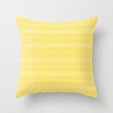 MCM Leaf in Yellow Throw Pillow