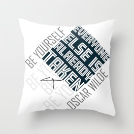 Oscar Wilde Quote: Be yourself Throw Pillow