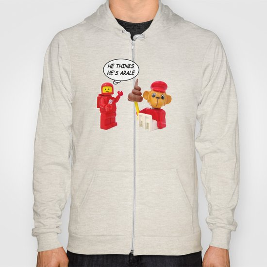 "space lego meeting the ""arale wannabe"" monkey Hoody"