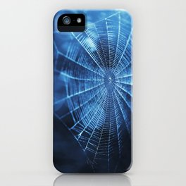Spider Web in Blue iPhone Case