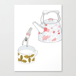 A nice hot bath, please Canvas Print