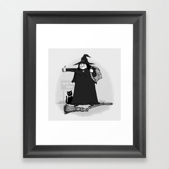 Witch Hiker Framed Art Print