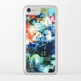 Colors Collide Clear iPhone Case