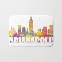 Indianapolis Indiana  Skyline MCLR 2 Bath Mat