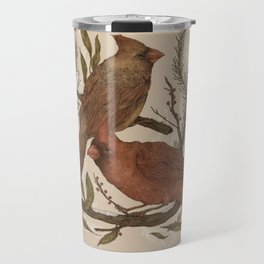 Wintery Cardinals Travel Mug