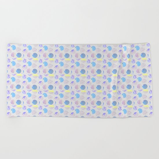Dots Pattern - JUSTART © Beach Towel