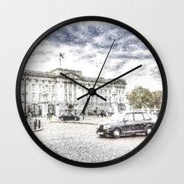 Buckingham Palace Snow Wall Clock