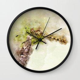 "Yellow dragonfly ""Sympetrum striolatum"" Wall Clock"