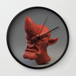 Cobold creature sculpt (red material) Wall Clock