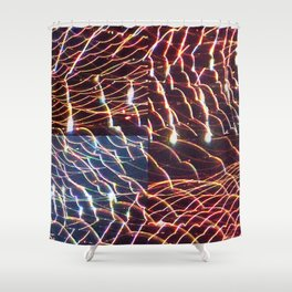 high voltage fishing Shower Curtain