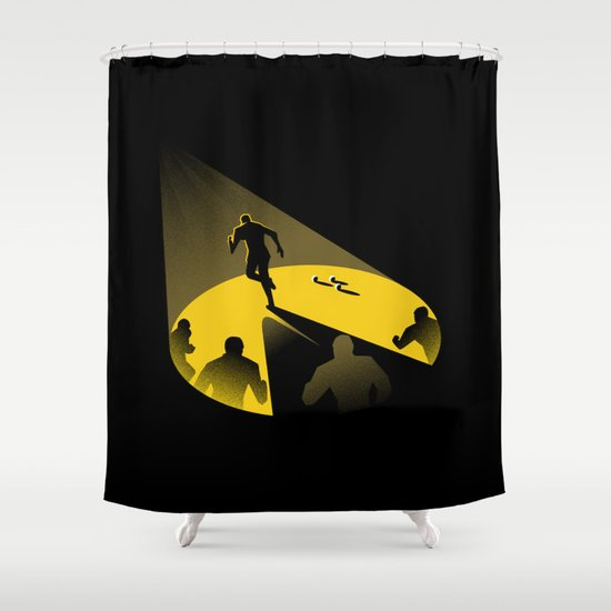 Endless Chase Shower Curtain