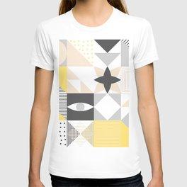 Geometric Pattern based on Scandinavian Graphic Design T-shirt