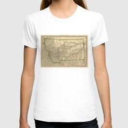 Vintage Map of Montana (1881) T-shirt