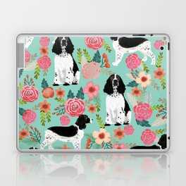 English Springer Spaniel dog breed florals dog gifts for dog lovers dog breeds Laptop & iPad Skin