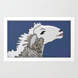 Flirty Sheep Art Print