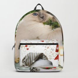 Holiday Christmas Dog Cat Backpack