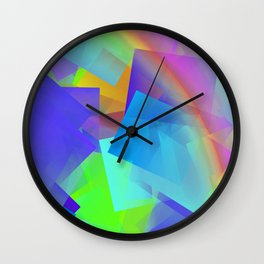 Sun, rain, and little rainbow ... Wall Clock