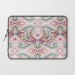 Lily, Leaf & Triangle Pattern – multi-color version Laptop Sleeve