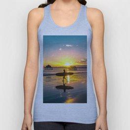 Surf City USA - Little Surfer Girl Unisex Tank Top