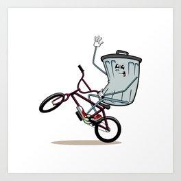 Wheelie Bin Art Print