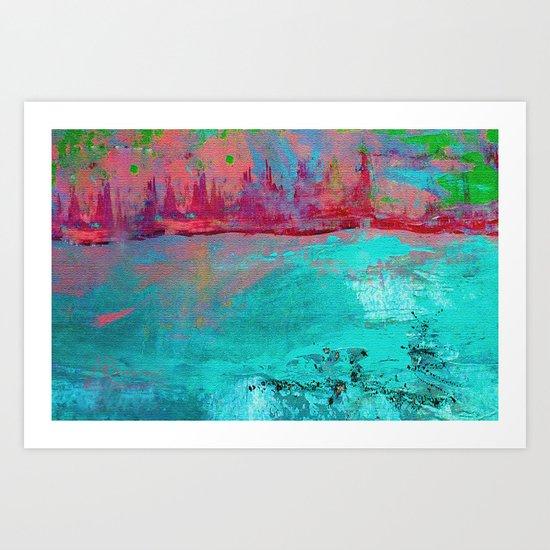 Turquoise Ocean Art Print