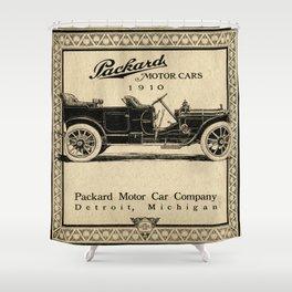 Pachard - Vintage Poster Shower Curtain