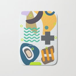 Infirmary, Abstract Illustration, Office Wall Art, Childrens Room, Playroom Art Bath Mat