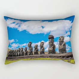 Moai Monolithics on Easter Island Rectangular Pillow