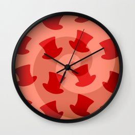 'Mad Hatter Melon Hat Pattern' Alice in Wonderland styled design by Dark Decors Wall Clock