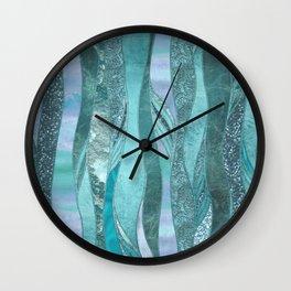 Precious Aqua And Turquoise Glamour Wall Clock