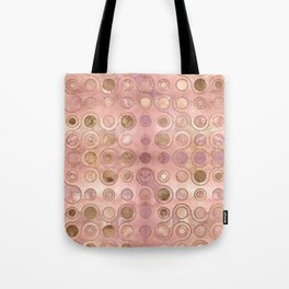 Geometric Pattern - Onyx and Golden Texture Tote Bag
