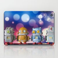 robots iPad Cases featuring Robots by Pedro Nogueira