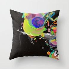 Colliding Nebulas Throw Pillow