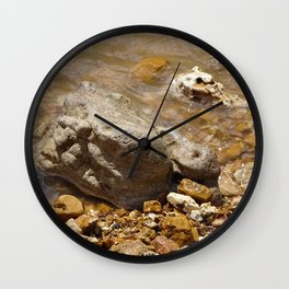 Rocks In The Current Wall Clock