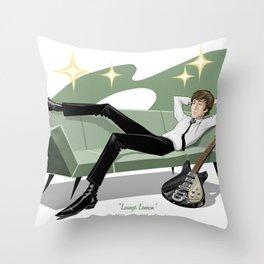 Lounging John Throw Pillow