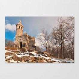 Winter Gettysburg Castle Canvas Print