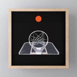 Basketball Hoop Xray Shot Framed Mini Art Print
