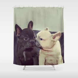 Frenchie kiss Shower Curtain