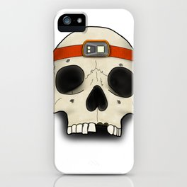 Skull Head Lamp 2 iPhone Case
