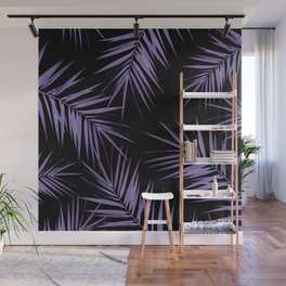 Palm Leaves Cali Finesse #5 #UltraViolet #Black #tropical #decor #art #society6 Wall Mural