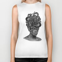medusa Biker Tanks featuring MEDUSA by DIVIDUS