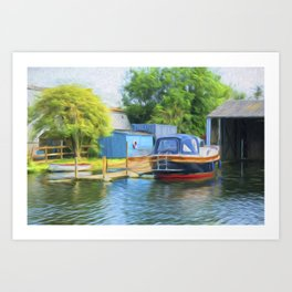 Boat on the Broads Art Print