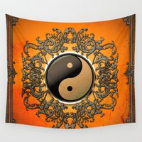 ying yang Wall Tapestries featuring Ying and yang by nicky2342