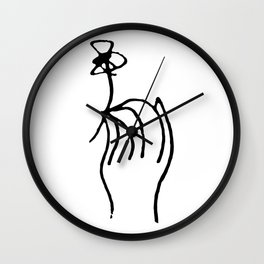 Pablo Picasso Hand With A Flower Artwork T Shirt, Reproduction Sketch, tshirt, tee, jersey, poster, Wall Clock