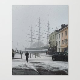 The Clipper in the snow Canvas Print