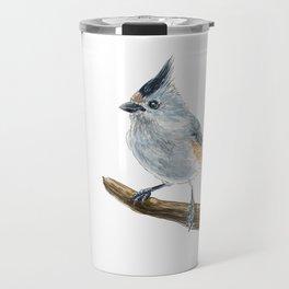 Titmouse bird watercolor Travel Mug