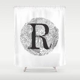 Succulent R Shower Curtain
