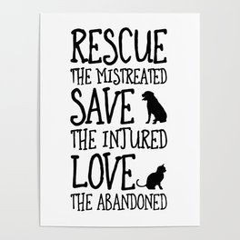 Rescue Save Love Poster