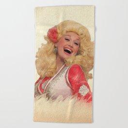 Dolly Parton - Watercolor Beach Towel