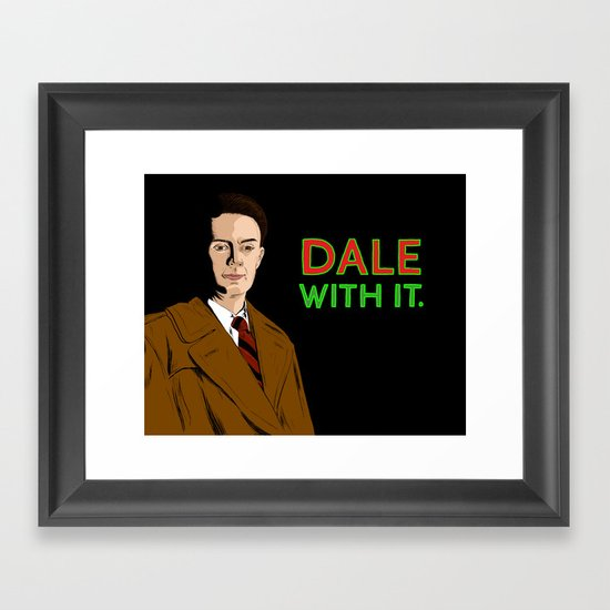 DALE WITH IT. Framed Art Print